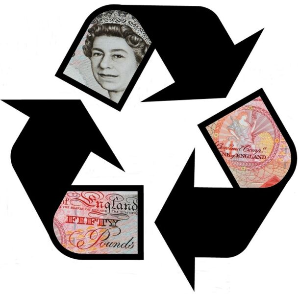 Image showing money being recycled