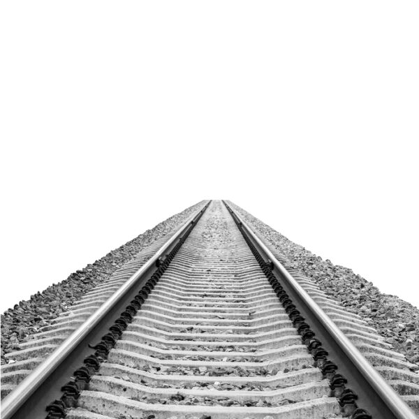Image of train tracks into distance