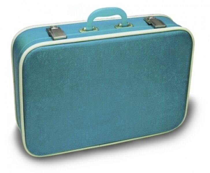 Suitcase of homeless person
