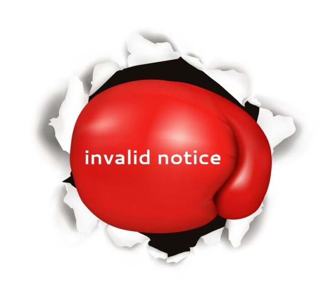 """Boxing glove image with """"notice invalid"""""""