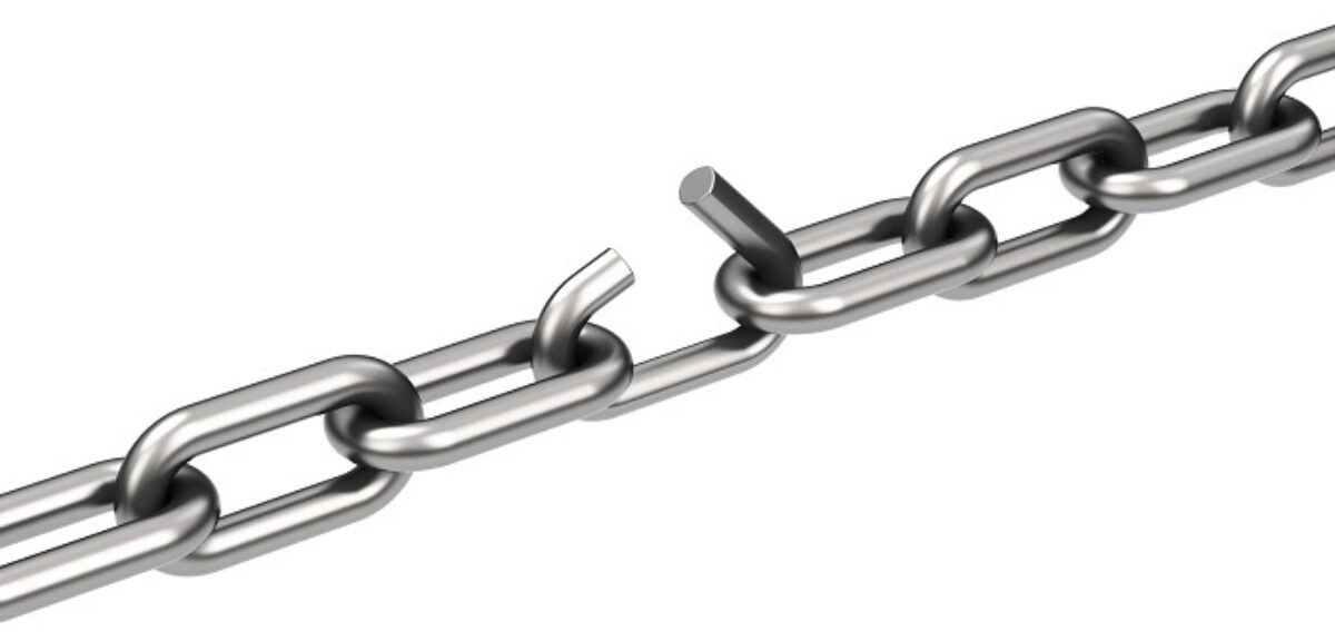 Image of chain about to be broken