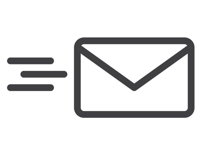 Illustration of letter being sent