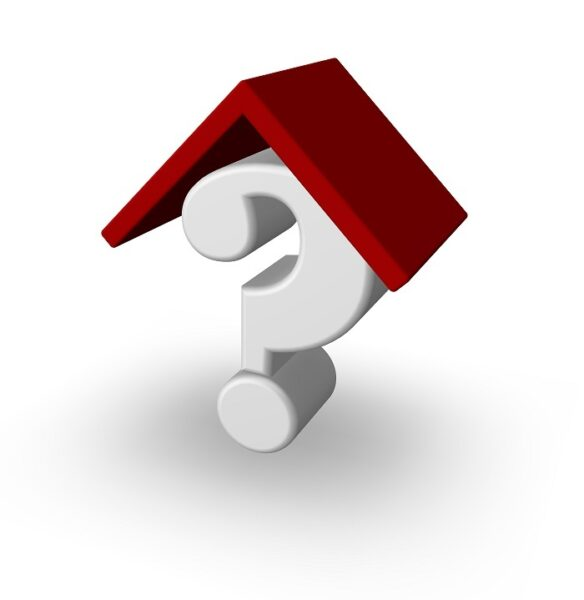 An image showing a question mark under a roof
