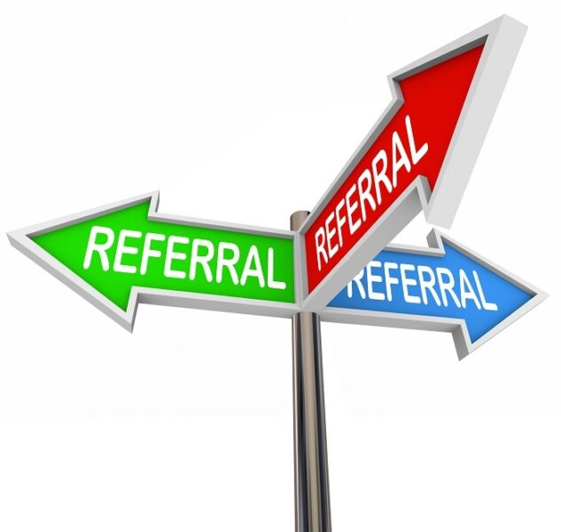 Referral sign illustration