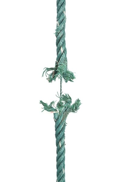 A photograph of a rope breaking
